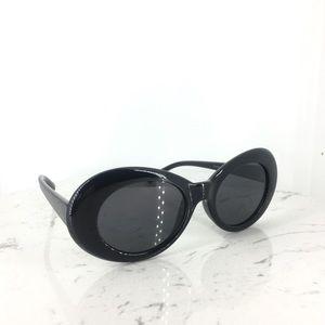 Accessories - Thick Black Oval Sunglasses